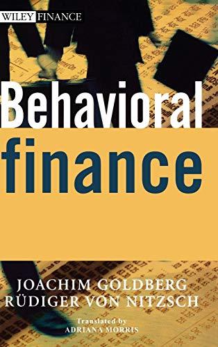 9780471497844: Behavioral Finance (Wiley Finance)