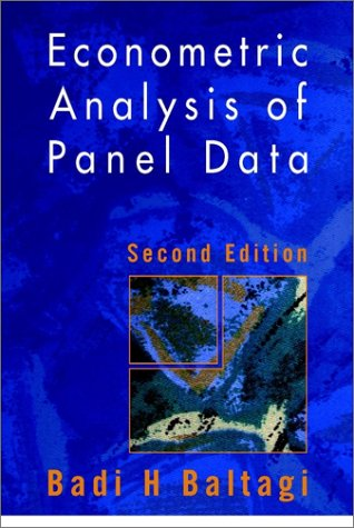 9780471499374: Econometric Analysis of Panel Data