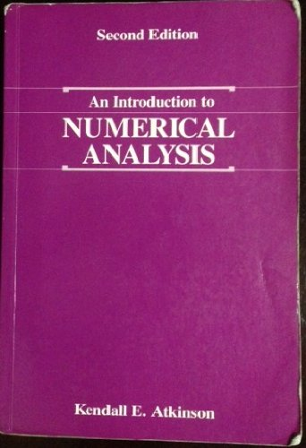9780471500230: An Introduction to Numerical Analysis
