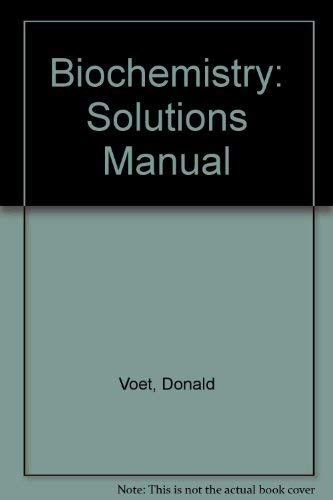 9780471502425: Biochemistry/Solutions Manual