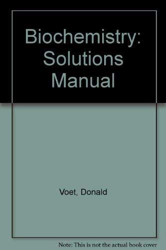 9780471502425: Biochemistry/Solutions Manual
