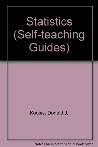9780471503019: Statistics (Self-teaching Guides)
