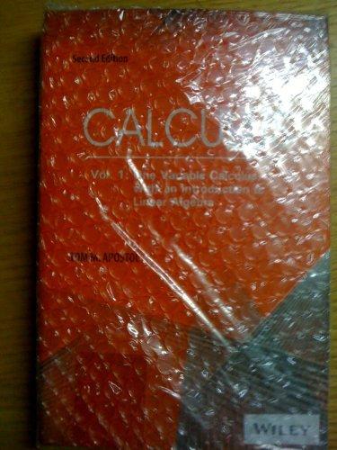 9780471503033: Calculus, Volume 1