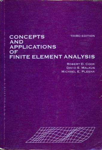 9780471503194: Concepts and Applications of Finite Element Analysis, 3rd Edition