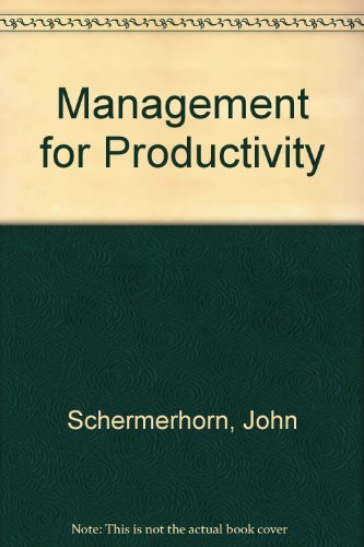 9780471503279: Management for Productivity
