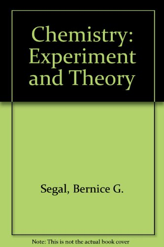 9780471504092: Chemistry: Experiment and Theory