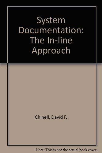 9780471504924: System Documentation: The In-Line Approach