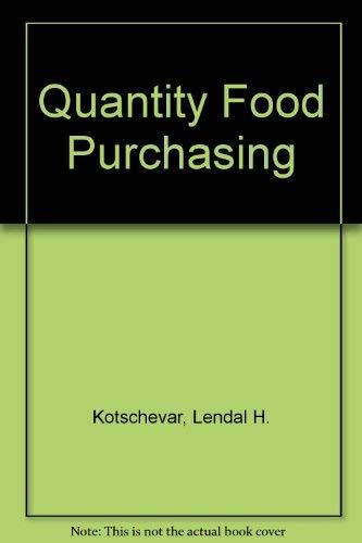 9780471505242: Quantity Food Purchasing