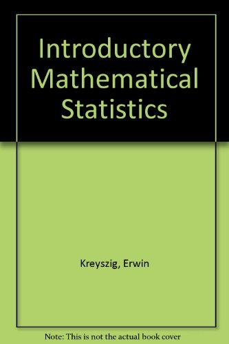 9780471507307: Introductory mathematical statistics;: Principles and methods