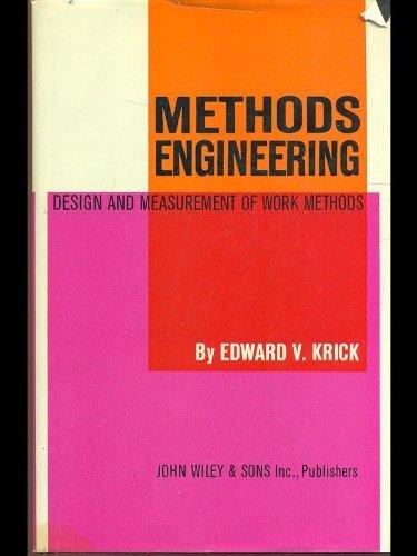 9780471507543: Methods Engineering: Design and Measurement of Work Methods
