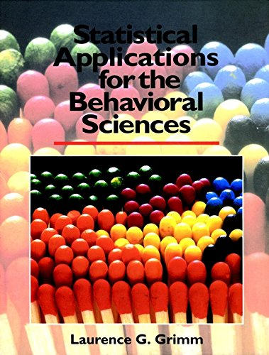 9780471509820: Statistical Applications for the Behavioral Sciences