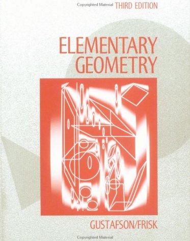 9780471510024: Elementary Geometry
