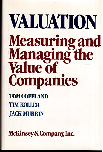 9780471510246: Valuation: Measuring and Managing the Value of Companies (Frontiers in Finance Series)