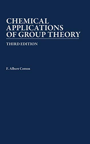 9780471510949: Chemical Applications of Group Theory, 3rd Edition