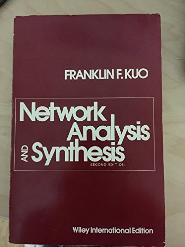9780471511168: Network Analysis and Synthesis, 2nd Edition