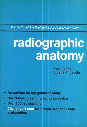 9780471513520: Radiographic Anatomy (National Medicine Series)