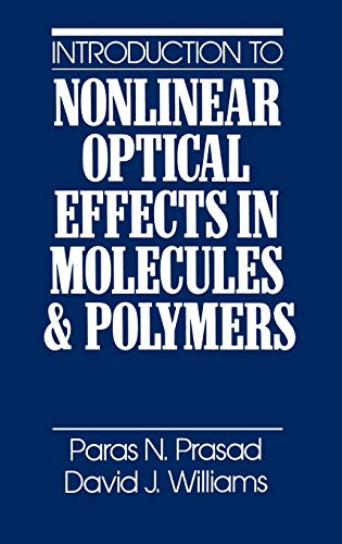 9780471515623: Introduction to Nonlinear Optical Effects in Molecules and Polymers