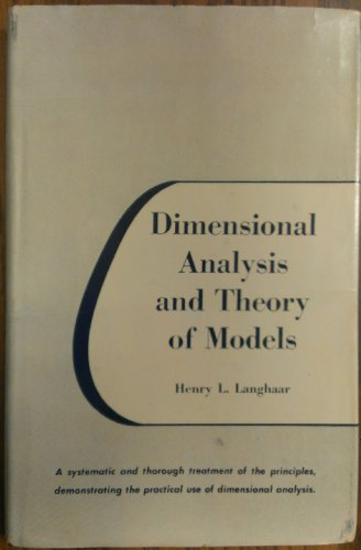 9780471516781: Dimensional Analysis and Theory of Models