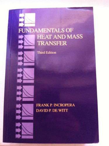 9780471517290: Fundamentals of Heat and Mass Transfer