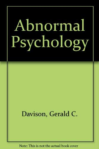 9780471517429: Abnormal Psychology