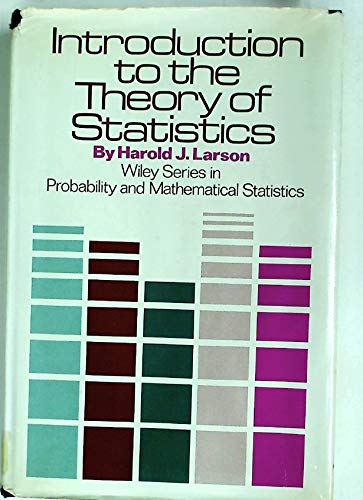 9780471517757: Introduction to the Theory of Statistics (Probability & Mathematical Statistics)