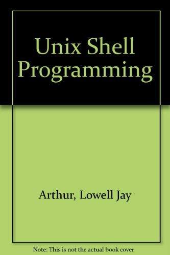 Shell programming on unix
