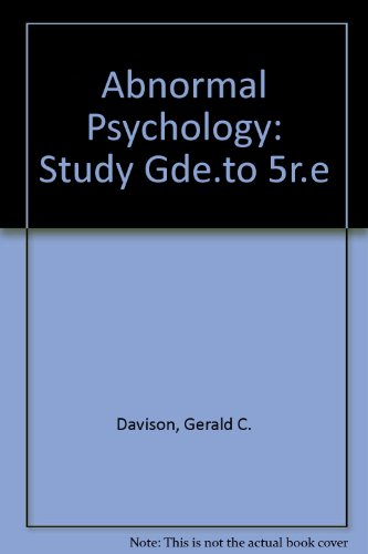 9780471518570: Abnormal Psychology: Study Gde.to 5r.e