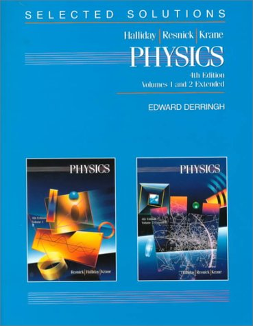 9780471518600: Selected Solutions to Accompany Volumes One and Two Extended Physics