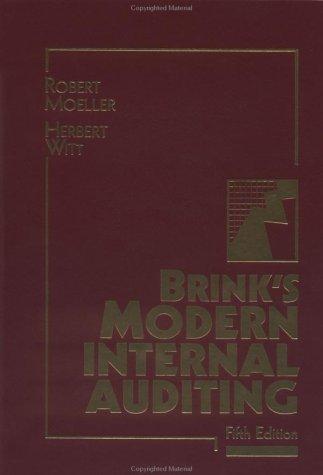 9780471521327: Brink's Modern Internal Auditing, 5th Edition