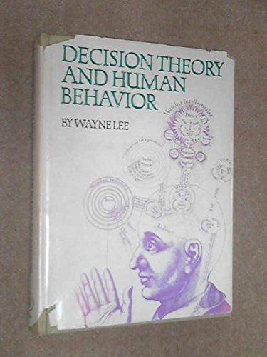 9780471521501: Decision Theory and Human Behavior