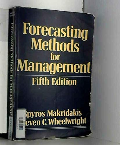 9780471521884: Forecasting: Methods for Management