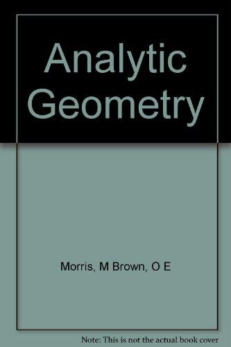 9780471524373: Analytic Geometry