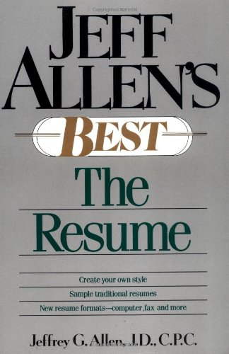 Jeff Allen's Best: The Resumes: Allen, Jeffrey G.