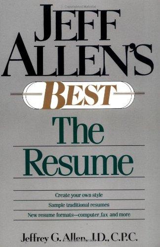 9780471525363: Jeff Allen's Best: The Resumes