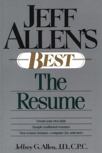 9780471525370: Jeff Allen's Best: The Resumes