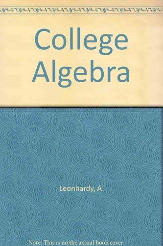 9780471527008: College Algebra