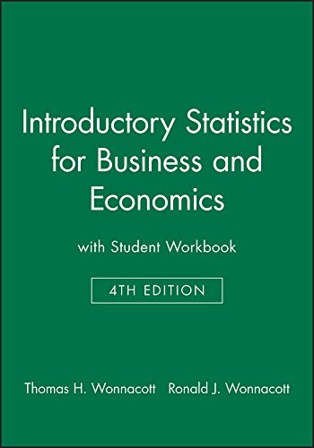 9780471527169: Introductory Statistics for Business and Economics