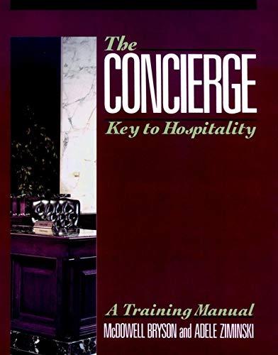 9780471528937: The Concierge: Key to Hospitality