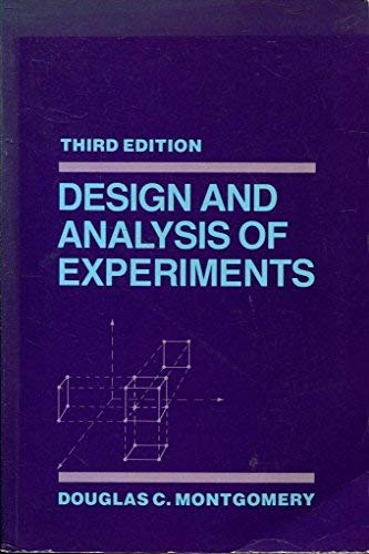 9780471529941: Design and Analysis of Experiments
