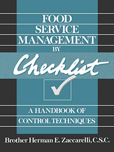 9780471530633: Food Service Management by Checklist: A Handbook of Control Techniques