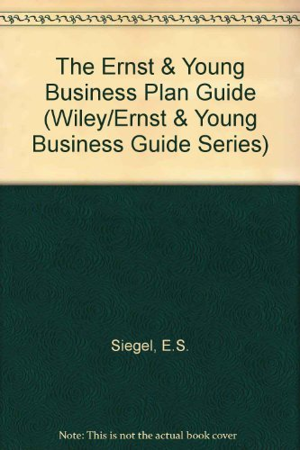9780471530671: The Ernst & Young Business Plan Guide (Wiley/Ernst & Young Business Guide Series)