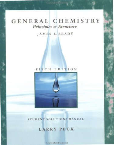 9780471533160: General Chemistry, Student Solutions Manual: Principles and Structure