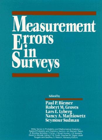 9780471534051: Measurement Errors in Surveys