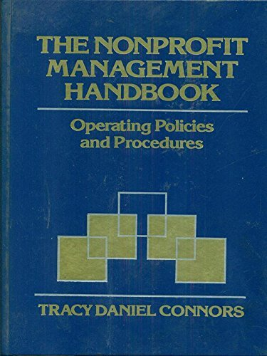 9780471537021: The Nonprofit Management Handbook: Operating Policies and Procedures (Wiley Nonprofit Law, Finance and Management Series)