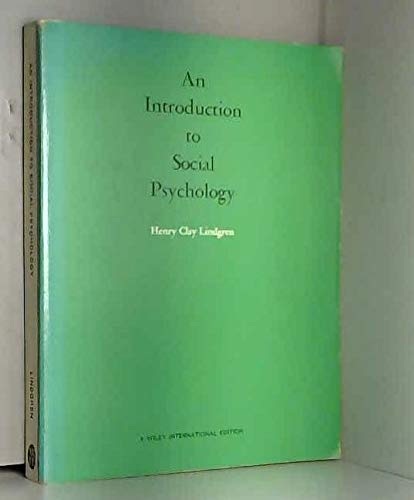 9780471537786: An Introduction to Social Psychology