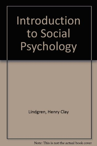 9780471537809: Introduction to Social Psychology