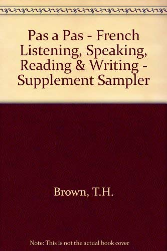 9780471539797: Supplement Sampler for Pas à Pas French: Listening, Speaking, Reading, Writing