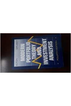 9780471541943: Modern Portfolio Theory and Investment Analysis