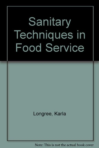 9780471544609: Sanitary Techniques in Food Service