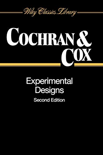 9780471545675: Experimental Designs, 2nd Edition